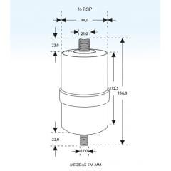 Gelinter Bebedouros e Filtros - Filtro interno para bebedouro pressão BEGEL, BELLIERE, MASTERFRIO, HIZA, LIBELL, NATUGEL,